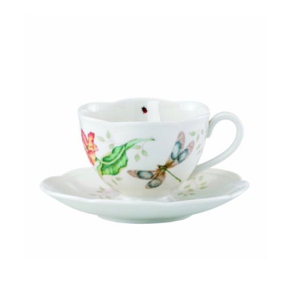 Lenox Butterfly meadow Dragonfly Cup & Saucer set